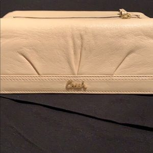 COACH Cream Leather Wallet